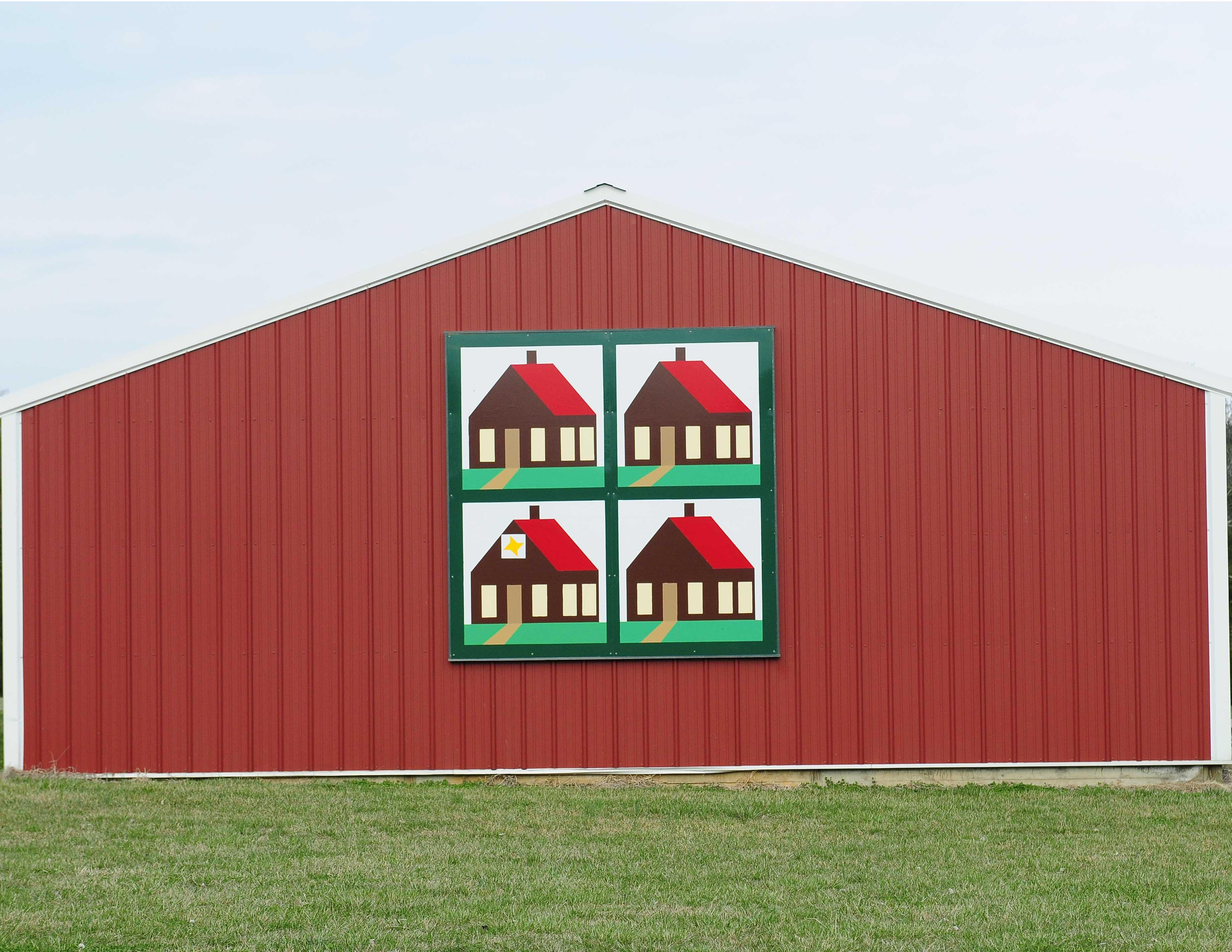 Log House Barn Quilt